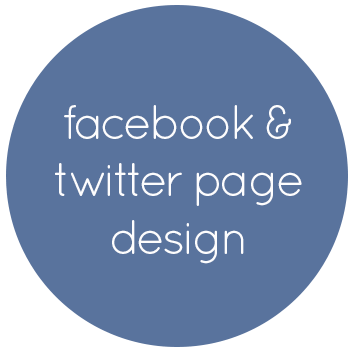 facebook and twitter page design