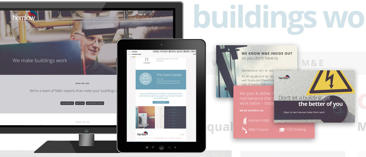 Rebrand, Logo Re-work, WP Web theme, HTML Email Series, Promotional 'leave behind'& Infographic