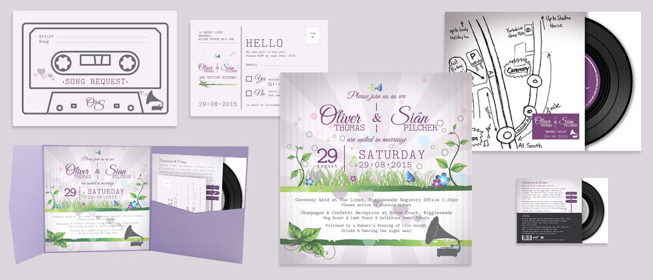 Wedding Invitiation Event Design & Stationary